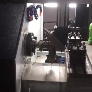 CJK6140自动横梁带振动盘送料机械臂数控车床